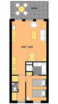 Plattegrond Appartement Sensu